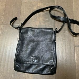 Tommy Hilfiger Leather black Crossbody